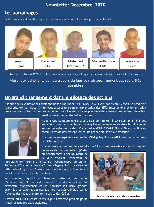 Newsletter 2020 12 3