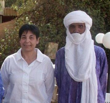 Pascale  à Niamey en février 2010